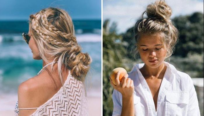 Прически для пляжа: легкие, своими руками, фото