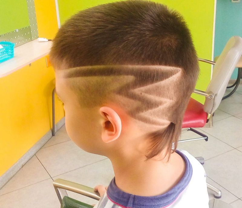 Рисунки на голове для мальчиков: фото